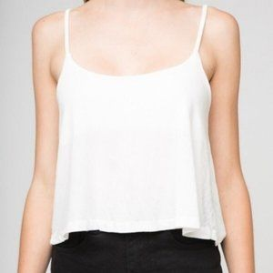 Brandy Melville white loose crop top S